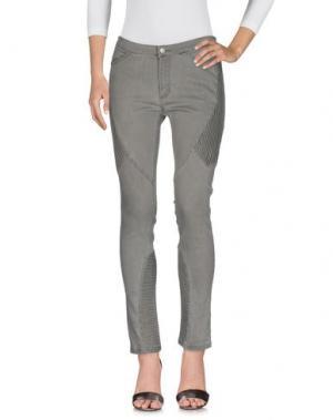 Джинсовые брюки EDUN. Цвет: серый