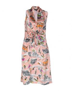 Платье до колена WALTER VOULAZ. Цвет: лососево-розовый
