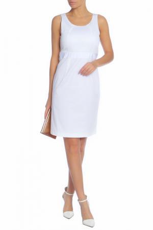 Повседневное платье средней длины Caractere. Цвет: белый