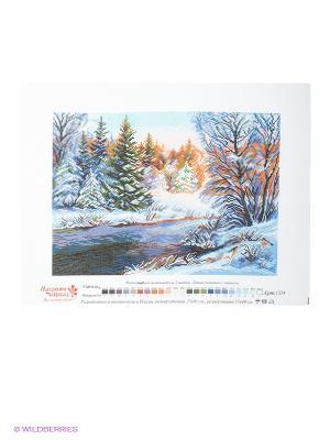 Рисунок на канве Мороз и солнце Матренин Посад. Цвет: синий, зеленый, белый