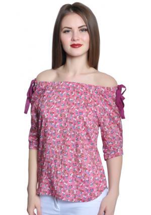Блузка Rise. Цвет: розовый (розовый)