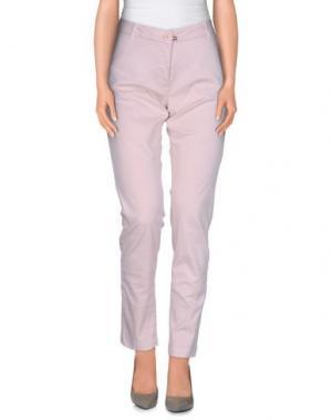 Повседневные брюки CANADIENS. Цвет: светло-розовый