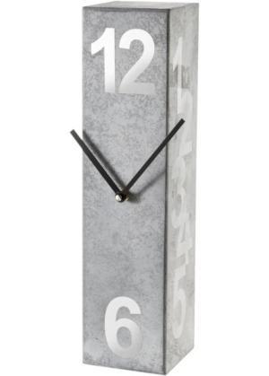 Часы Крис (серый/белый) bonprix. Цвет: серый/белый
