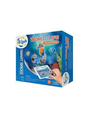 Животный мир, Морской конёк/WORLD LIFE , SEAHORSE Gigo. Цвет: синий, серый