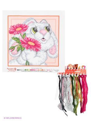 Набор для вышивания Зайчонок Матренин Посад. Цвет: кремовый, белый, розовый