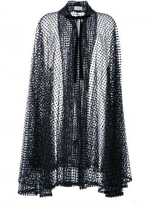 Полупрозрачное пальто-кардиган Isa Arfen. Цвет: чёрный
