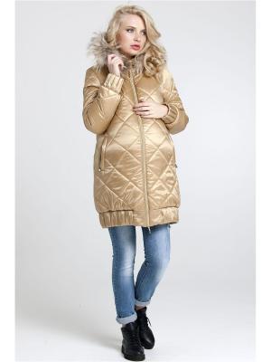 Пальто Modress. Цвет: золотистый