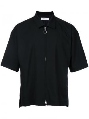 Рубашка с рукавами по локоть monkey time. Цвет: чёрный