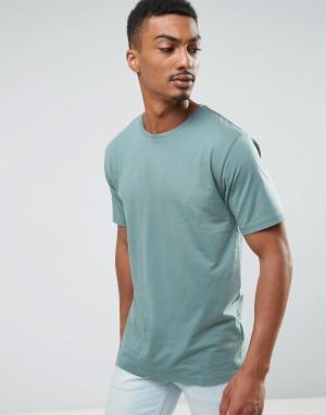 Troy Меланжевая футболка. Цвет: зеленый