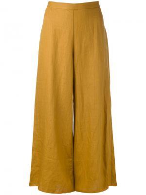 Укороченные широкие брюки Simon Miller. Цвет: коричневый