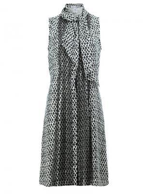 Расклешенное платье с бантом Oscar de la Renta. Цвет: чёрный