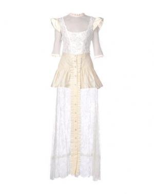 Длинное платье ALESSANDRA RICH. Цвет: слоновая кость