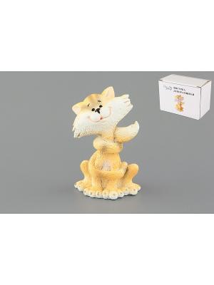 Фигурка декоративная Веселый кот Elan Gallery. Цвет: белый, желтый