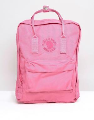 Fjallraven Розовый рюкзак Re-Kanken. Цвет: розовый