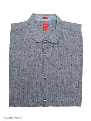 Рубашка с короткими рукавами S.OLIVER. Цвет: темно-серый