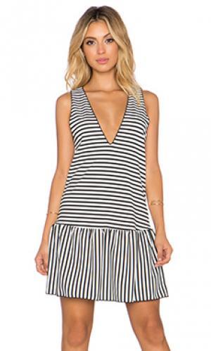 Платье The LDRS. Цвет: чёрный и белый