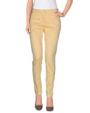 Повседневные брюки PERFECTION. Цвет: желтый