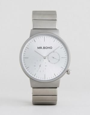 Mr Boho Серебристые матовые часы. Цвет: серебряный