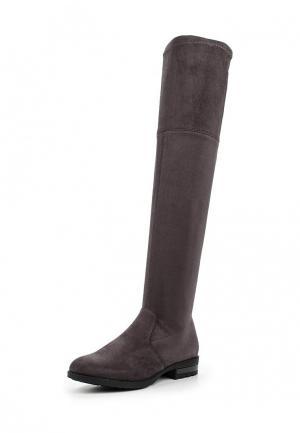 Ботфорты WS Shoes. Цвет: серый