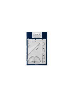 Набор измерительных инструментов Graphix Mini, 4 шт. Bruno Visconti. Цвет: серебристый