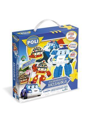 Фигурная мозаика-набор для малышей Робокар Поли. Origami. Цвет: белый, красный, синий