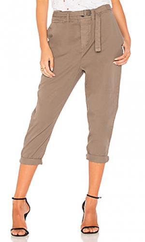 Мешковатые брюки с ремнем James Perse. Цвет: военный стиль
