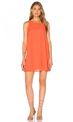 Мини сарафан Lucca Couture. Цвет: оранжевый