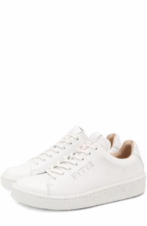 Кожаные кеды Ace на шнуровке Eytys. Цвет: белый
