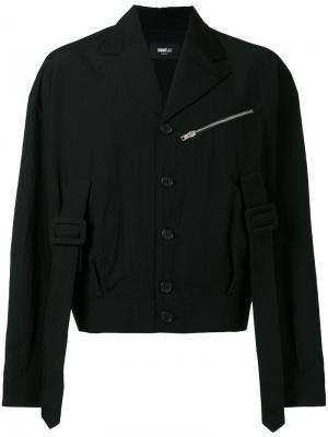 Укороченная куртка с ремешками Yang Li. Цвет: чёрный