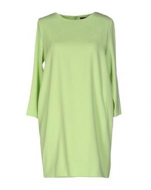 Короткое платье GIULIANO FUJIWARA. Цвет: светло-зеленый