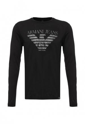 Лонгслив Armani Jeans. Цвет: черный