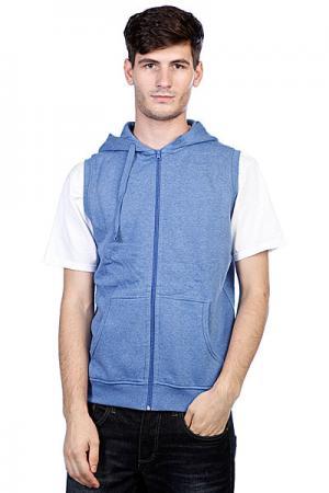 Толстовка  Melange Sleevless Zip Hoody Blue Urban Classics. Цвет: голубой