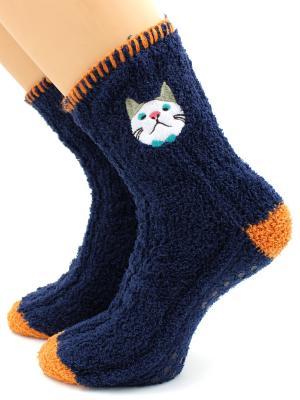 Носки HOBBY LINE. Цвет: темно-синий, оранжевый