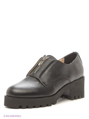 Туфли ESTELLA. Цвет: серый, черный