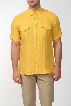 Рубашка с короткими рукавами Smalto. Цвет: желтый