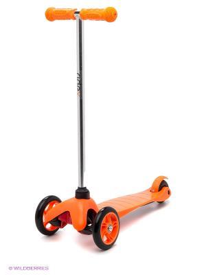 Самокат 3-колесный RIDEX 3D Magic (120/80 мм), оранжевый. Цвет: оранжевый