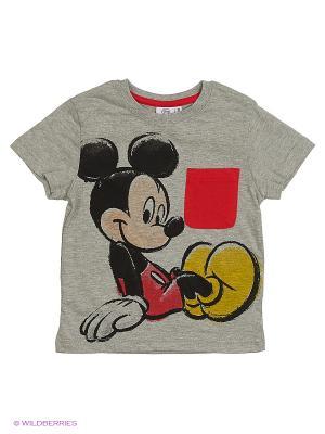 Футболка Mickey Mouse. Цвет: серый меланж