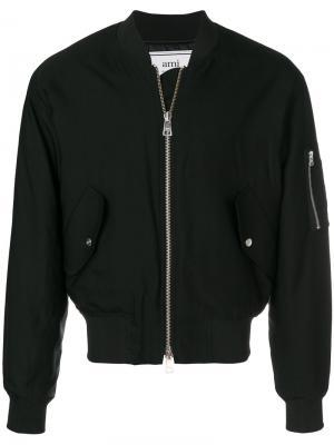 Куртка-бомбер на молнии Ami Alexandre Mattiussi. Цвет: чёрный