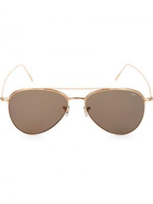 Солнцезащитные очки-авиаторы Eyevan7285. Цвет: коричневый