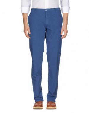 Повседневные брюки MANUEL RITZ WHITE. Цвет: грифельно-синий