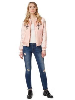 Куртка TOM TAILOR. Цвет: бледно-розовый, кремовый