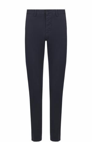 Хлопковые брюки чинос Ami. Цвет: темно-синий