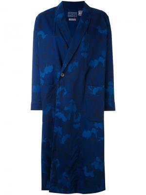 Printed kimono coat Blue Japan. Цвет: синий