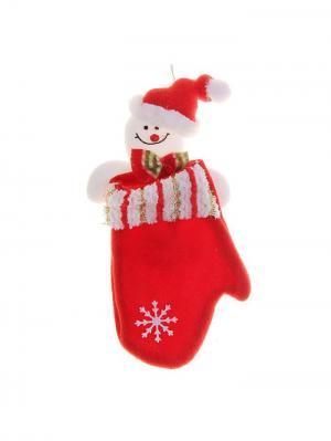 Варежка для подарков Новогодняя ярмарка. Цвет: красный, белый