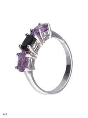 Кольцо Митра Ювелир. Цвет: фиолетовый, серебристый, черный