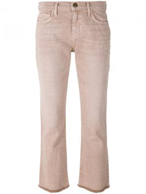 Укороченные джинсы Current/Elliott. Цвет: розовый и фиолетовый