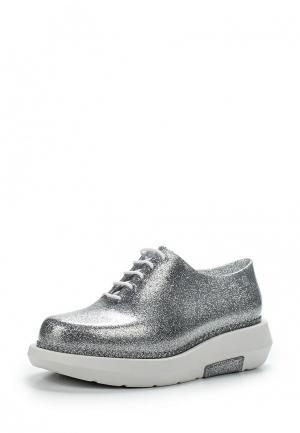 Резиновые ботинки Melissa. Цвет: серебряный