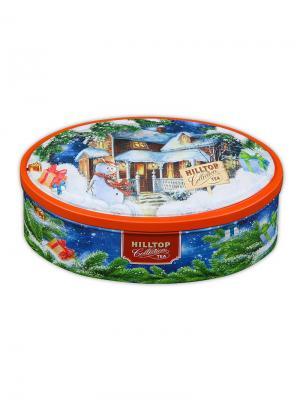 Чай Hilltop Подарок Цейлона 100г., овал. шкатулкаНовогоднее настроение, шт. Цвет: черный