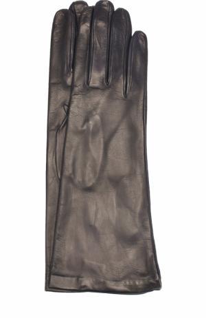 Кожаные перчатки Sermoneta Gloves. Цвет: темно-синий
