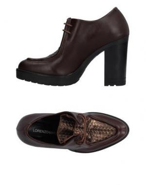 Обувь на шнурках LORENZO MARI. Цвет: какао
